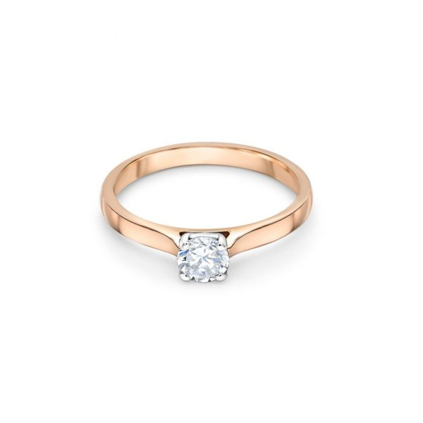 18ct Rose Gold Solitaire Engagement Ring