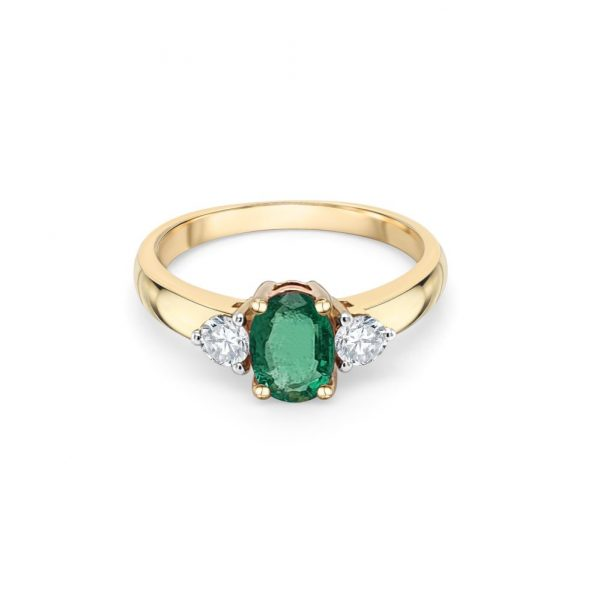 9ct Yellow Gold Emerald Dress Ring