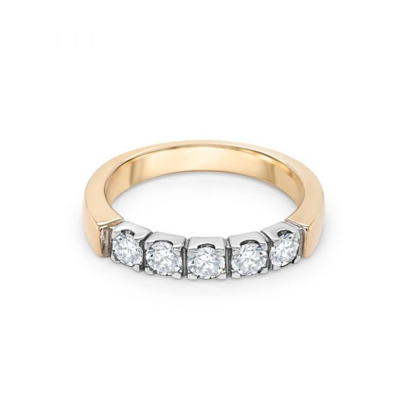 9ct Yellow and White Gold Eternity Ring