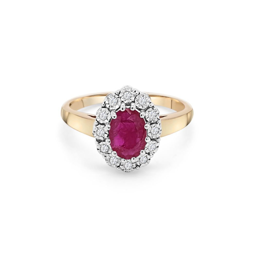 9ct Yellow Gold Ruby Dress Ring