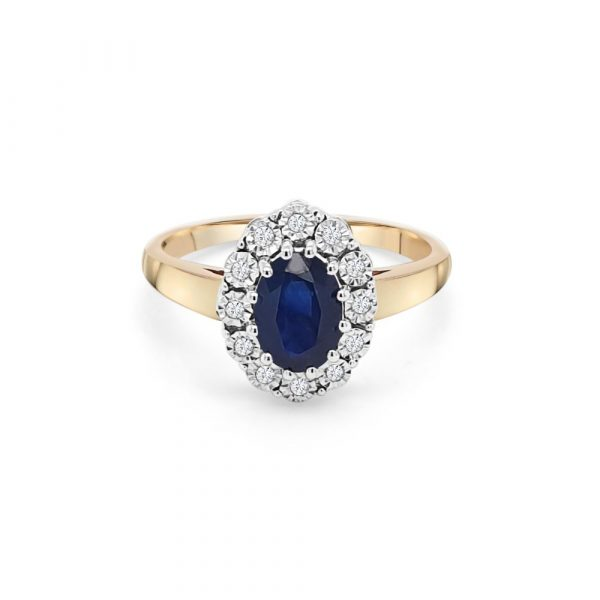 9ct Yellow Gold Sapphire Dress Ring