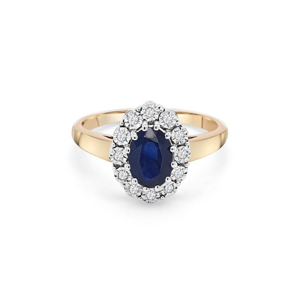 9ct Yellow Gold Sapphire Dress Ring