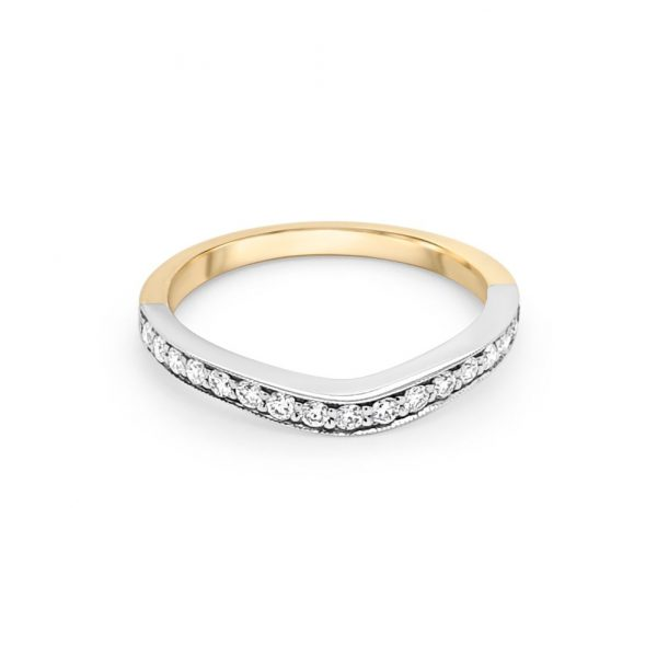 18ct Yellow and White Gold Wedding Ring