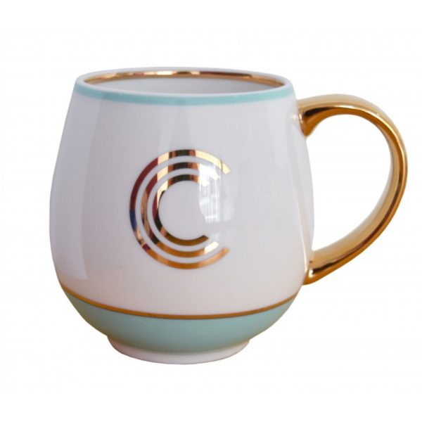 Library Monogram Mug Letter C Mint (VIA104C)