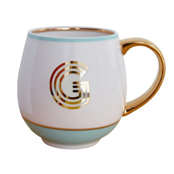Library Monogram Mug Letter G Mint (VIA104G)