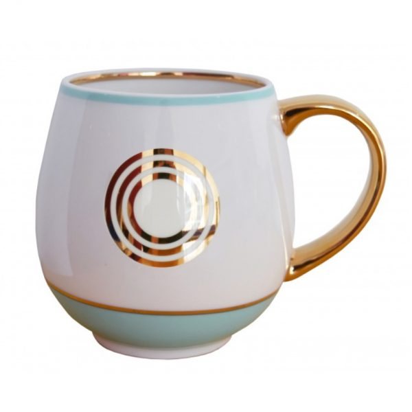 Library Monogram Mug Letter O Mint (VIA104O)
