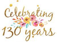 celebrating 130 years emblem