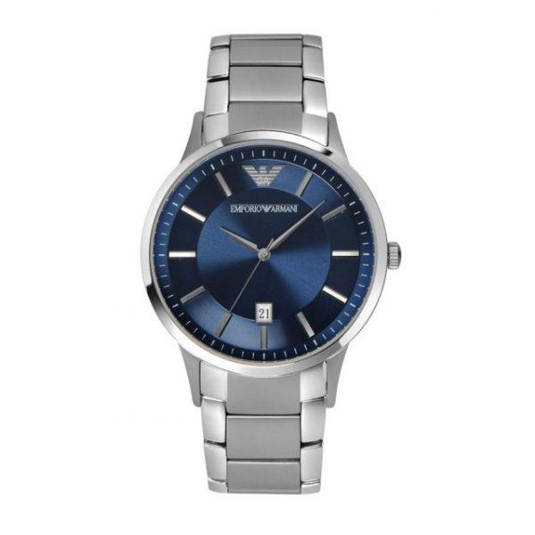 Renato Silver Quartz Watch Blue Dial (AR11180)