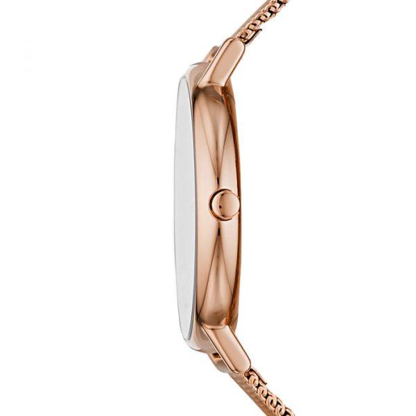 Signatur Rose-Tone Steel-Mesh Watch (SKW2784)