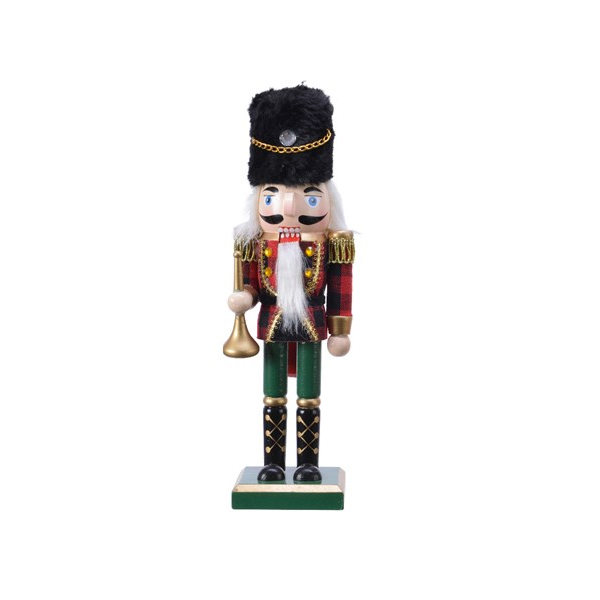 Firwood Nutcracker with Check - Green (551437G)