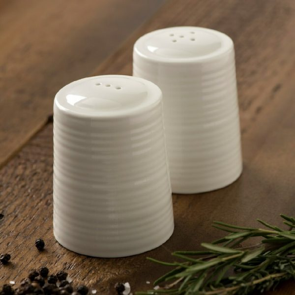 Belleek Living Ripple Salt and Pepper Shakers (7973)