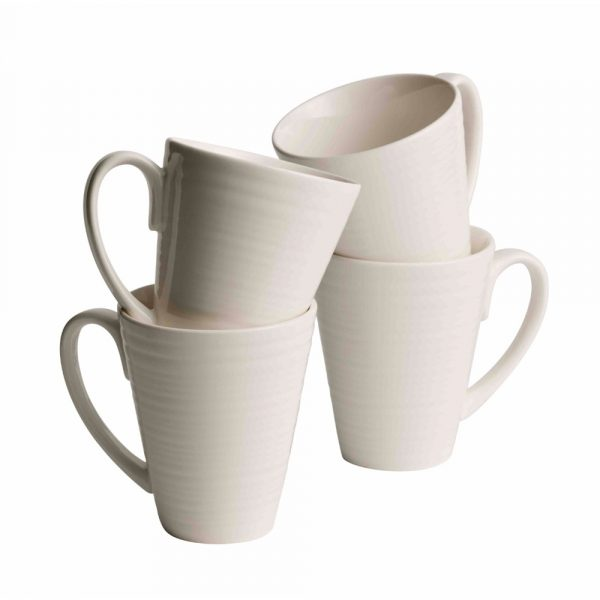 Belleek Living Ripple Mugs Set (7982)