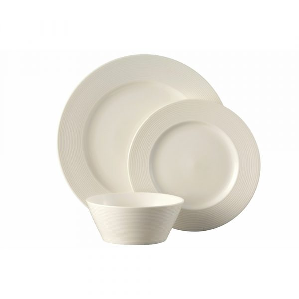 Belleek Living Ripple Dinnerware 12 Piece Set (7983)