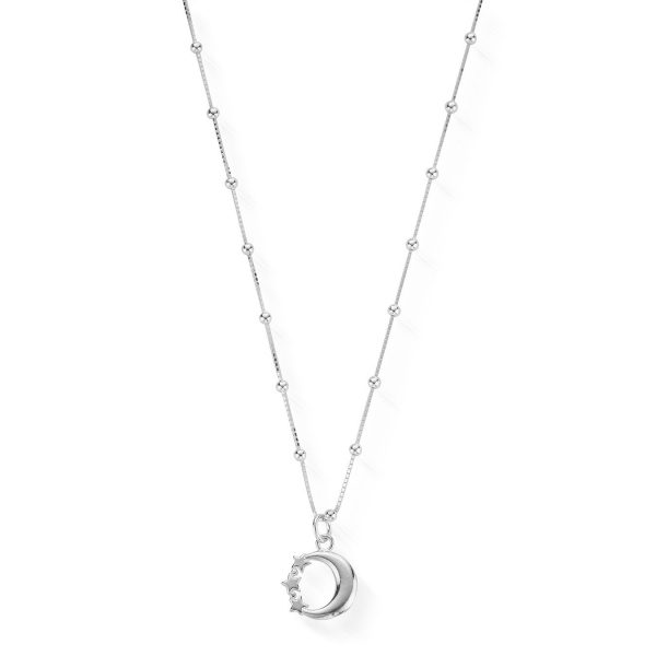 Bobble Chain Moon & Stars Necklace (SNBB580)