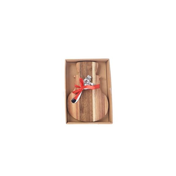 Acacia Cheese Board - Snowman (608648S)