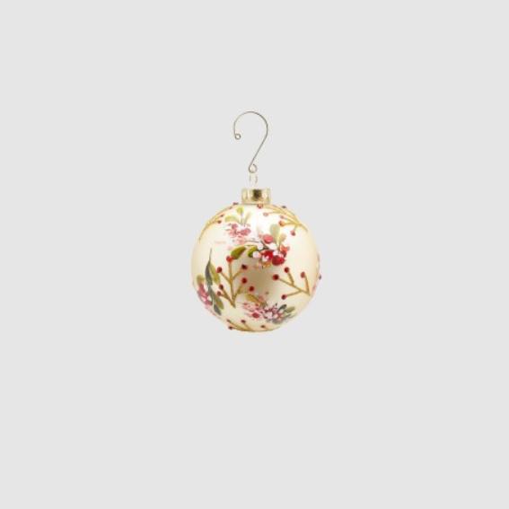Glass Ball Decoration - Cream (682884,29)