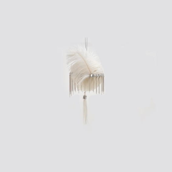 Circle Hanging Decoration with Feather (682976,10C)