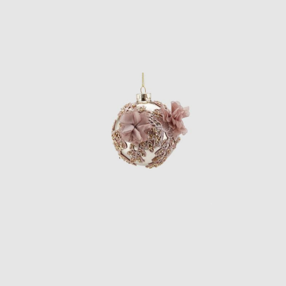 Embroidered Glass Ball Hanging Decoration (683457,62)