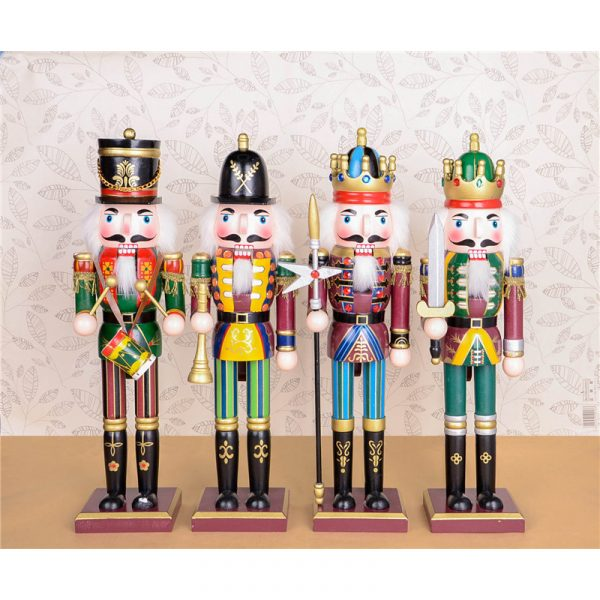 Wooden Nutcracker - Black and Red (813890BR)