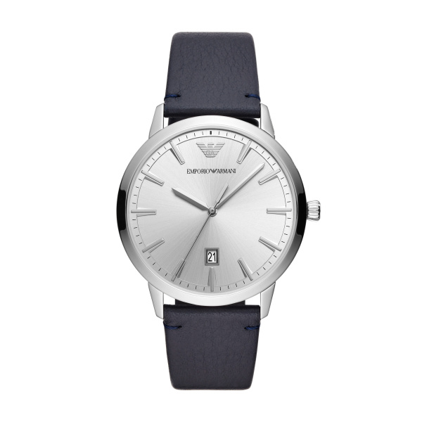 Ruggero Three Hand Blue Leather Watch (AR11194)
