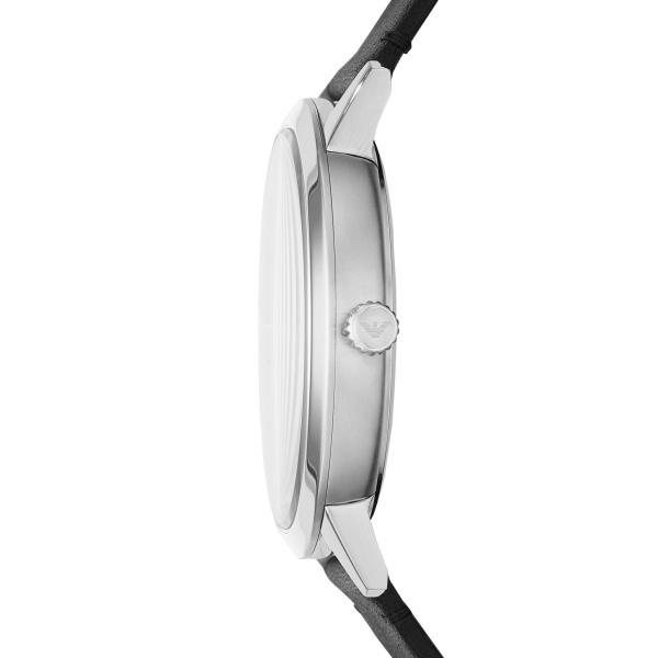 Ruggero Three-Hand Grey Leather Watch (AR11277)
