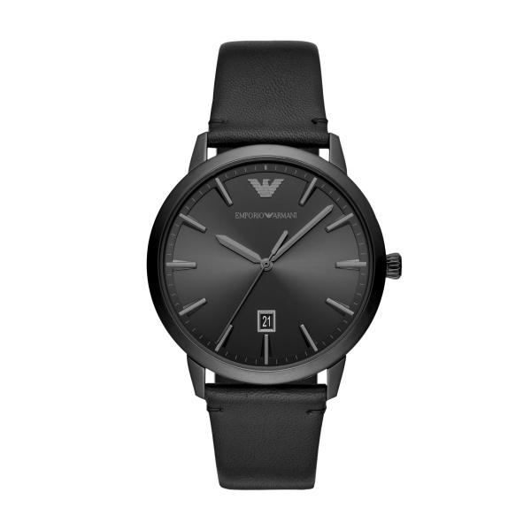 Ruggero All Black Leather Watch (AR11278)
