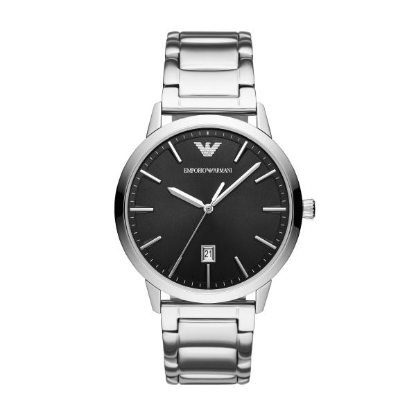 Ruggero Stainless Steel Watch - Black Dial (AR11310)