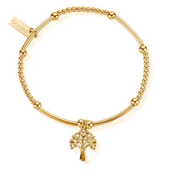 Cute Mini Heart Tree Of Life Bracelet - Gold (EGBCM775)