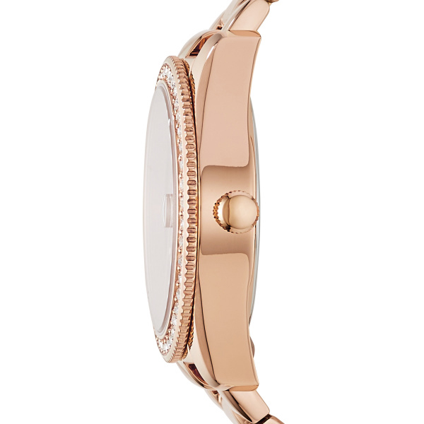 Scarlette Three-Hand Date Rose-Gold-Tone Stainless Steel Watch (ES4318)