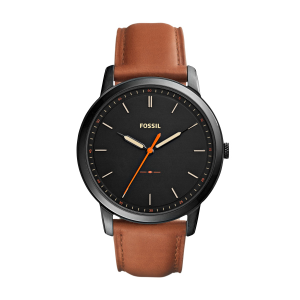 The Minimalist Three-Hand Light Brown Leather - Black Dial (FS5305)
