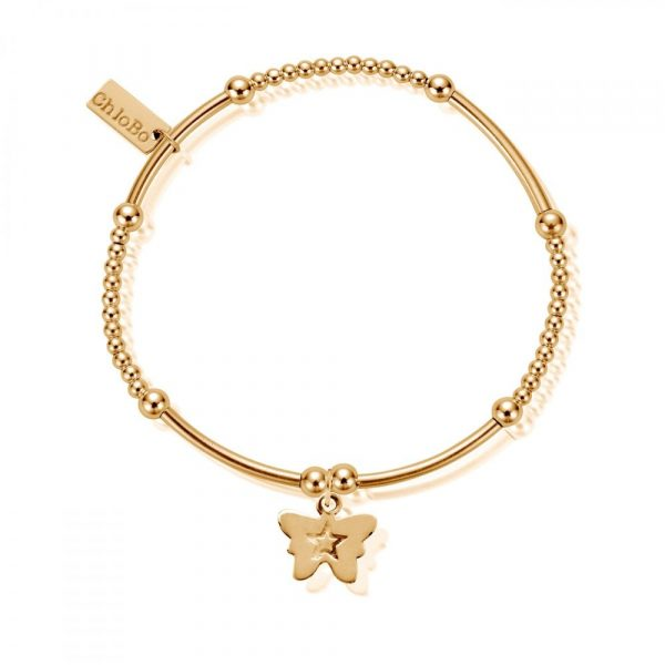 Cute Mini Butterfly Bracelet - Gold (GBCM408)