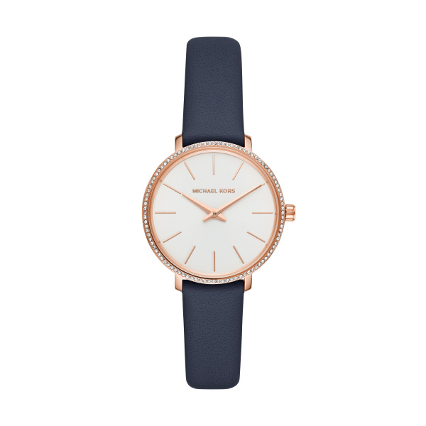 Pyper Blue Leather Quartz Watch (MK2804)