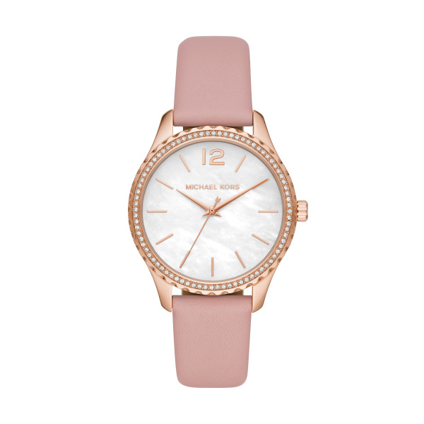 Layton Three Hand Rose Gold Ladies Watch (MK2909)