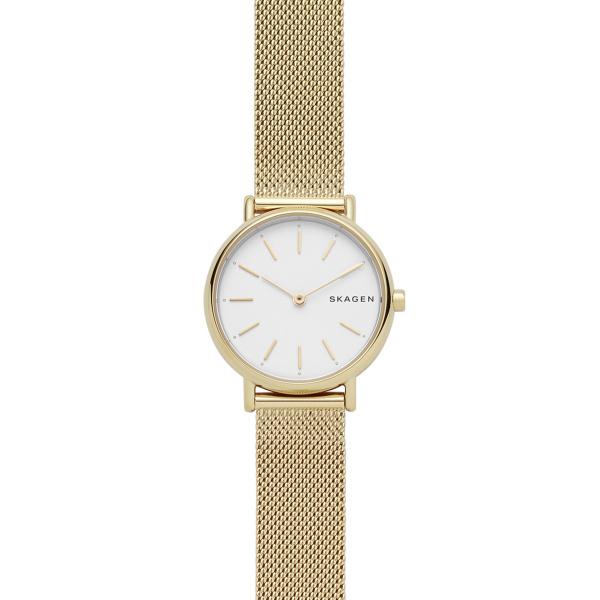 Signatur Slim Gold-Tone Steel-Mesh Watch (SKW2693)