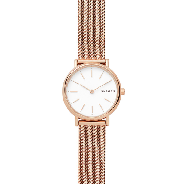 Signatur Rose-Gold Tone Stainless Steel Mesh Watch - 30mm (SKW2694)