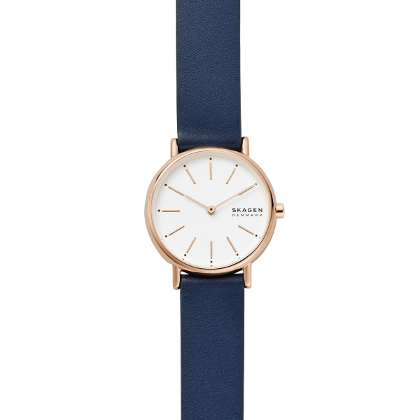 Signatur Blue Leather Watch (SKW2838)