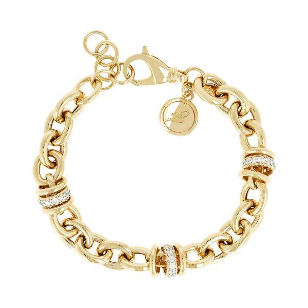 Alternate Link Bracelet Yellow Gold (WSBZ00519Y.WY)
