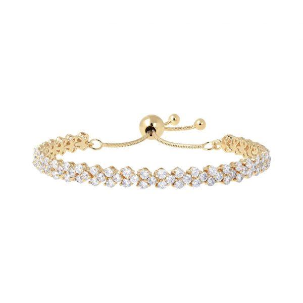 Double Tennis Friendship Bracelet Yellow Gold (WSBZ00740Y.WY)