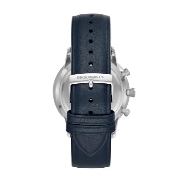 Giovanni Chronograph Blue Leather Strap Watch (AR11226)