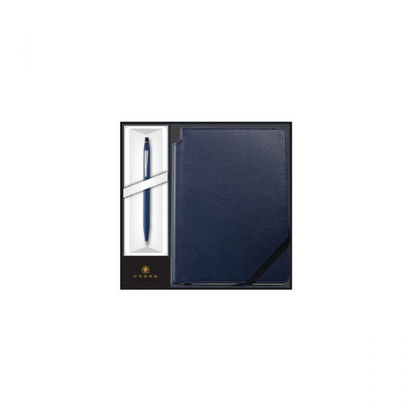 Click Midnight Blue Ballpoint Pen with Midnight Blue Journal Gift Set (AT0622-121-2M)