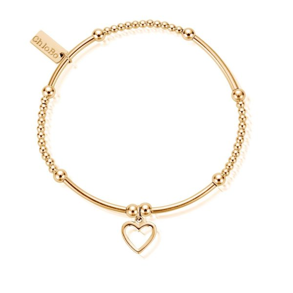 Cute Mini Open Heart Bracelet Gold (EGBCM006)