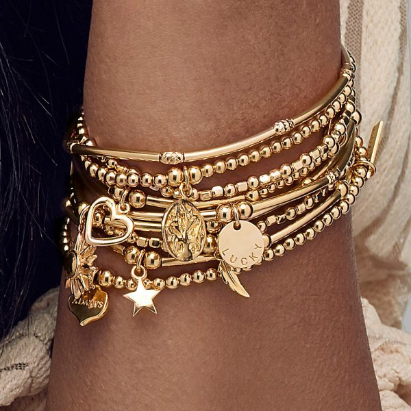 Cute Mini Open Heart Bracelet Gold (EGBCM006)