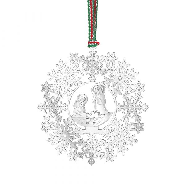 Snowflake with Nativity Decoration (LW402)