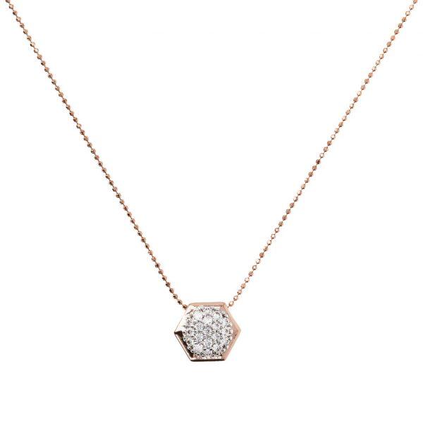 Hexagon CZ Necklace (WSBZ01630.W)