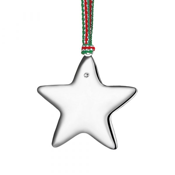 Silverplate Star with Clear Stone (WY801)