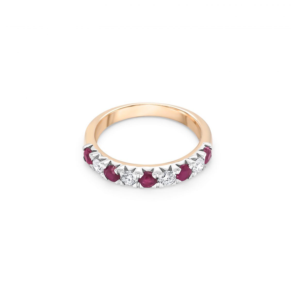 9ct Yellow Gold Ruby and Diamond Dress Ring