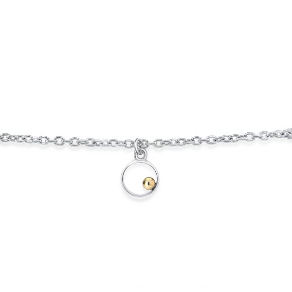 Cathal Barber Goldsmith Circle Bracelet in Silver and Gold