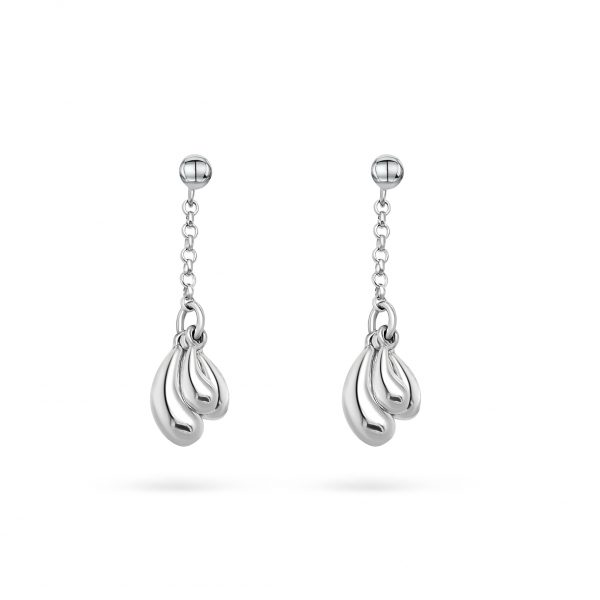 Cathal Barber Goldsmith Droplet Earrings in Sterling Silver