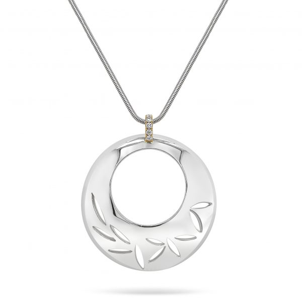Cathal Barber Goldsmith Hand-Made Circle Pendant with Diamonds