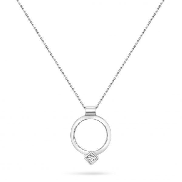 Cathal Barber Goldsmith Hand-Made Diamond Circle Pendant